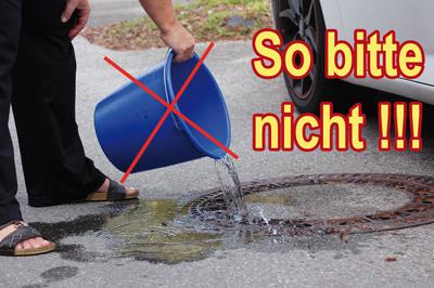 Der richtige Umgang mit dem Abwasser