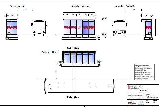 Umgestaltung der Bushaltestelle am Eichenplatz